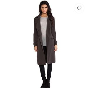 James Perse military overcoat